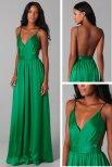 Satin Chiffon Amazing Open Back Dress