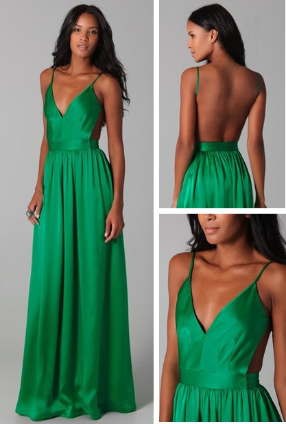 Satin Chiffon Amazing Open Back Dress