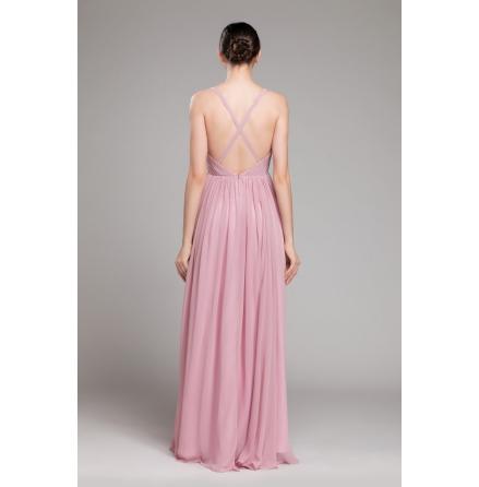 Rubbie balklänning med öppen rygg