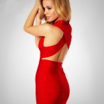 Cross Back Bandage Dress