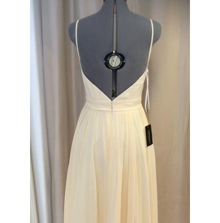 Chiffon Anna open back dress