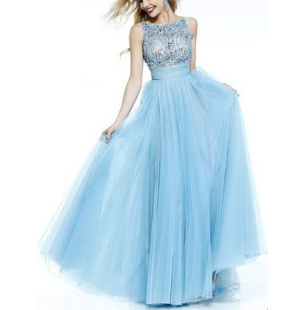 Ady the blue puffy dress