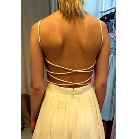 Lace up amazing open back dress