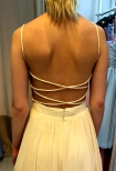 Lace up amazing open back dress