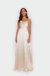 Luxe satin Jenny v-back dress