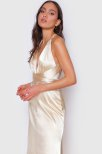 Ryne Muti-way Long Straps Satin Dress