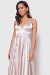 Kylo Lace Up Back Satin Dress