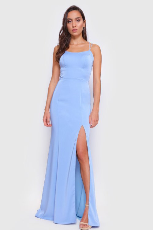 Arabella Fitted Gown with Slit