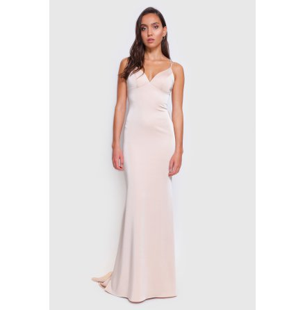Morris Open-Back Long Fitted Dress